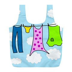 Laundry Full Print Recycle Bags (L)
