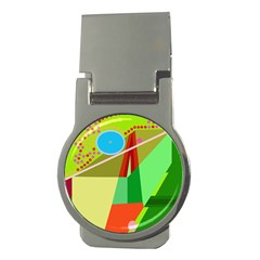 Colorful abstraction Money Clips (Round)