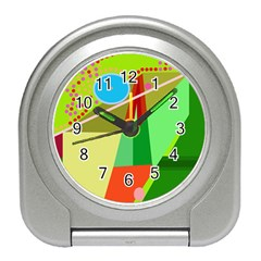 Colorful abstraction Travel Alarm Clocks