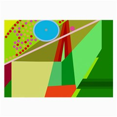 Colorful abstraction Large Glasses Cloth