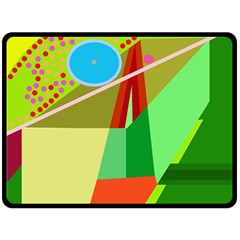 Colorful abstraction Fleece Blanket (Large)