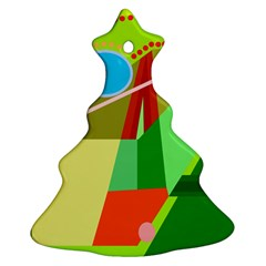Colorful abstraction Christmas Tree Ornament (2 Sides)