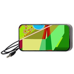 Colorful abstraction Portable Speaker (Black)