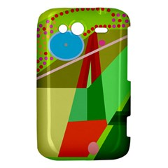 Colorful abstraction HTC Wildfire S A510e Hardshell Case