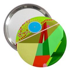 Colorful abstraction 3  Handbag Mirrors