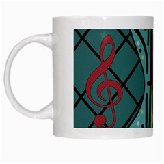 Blue guitar White Mugs