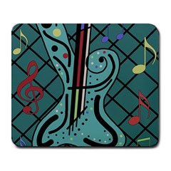 Blue guitar Large Mousepads