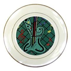 Blue guitar Porcelain Plates