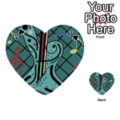 Blue guitar Playing Cards 54 (Heart)