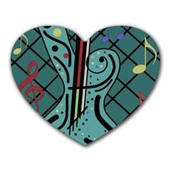 Blue guitar Heart Mousepads