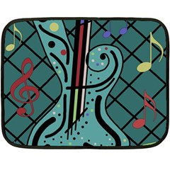 Blue guitar Double Sided Fleece Blanket (Mini)
