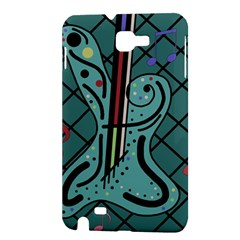 Blue guitar Samsung Galaxy Note 1 Hardshell Case