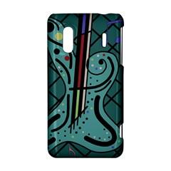 Blue guitar HTC Evo Design 4G/ Hero S Hardshell Case