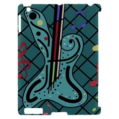 Blue guitar Apple iPad 2 Hardshell Case (Compatible with Smart Cover)