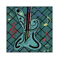 Blue guitar Acrylic Tangram Puzzle (6  x 6 )