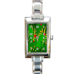 In the jungle Rectangle Italian Charm Watch