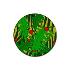 In the jungle Rubber Round Coaster (4 pack)