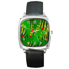 In the jungle Square Metal Watch