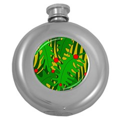 In the jungle Round Hip Flask (5 oz)