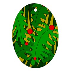 In the jungle Oval Ornament (Two Sides)