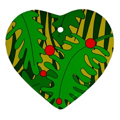 In the jungle Heart Ornament (2 Sides)