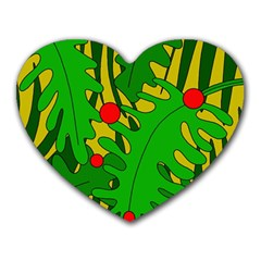 In the jungle Heart Mousepads