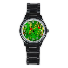In the jungle Stainless Steel Round Watch