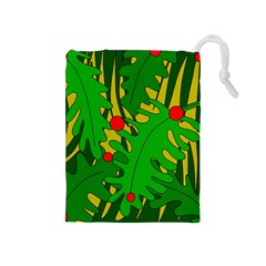 In the jungle Drawstring Pouches (Medium)