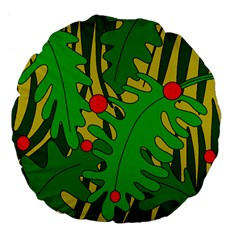 In the jungle Large 18  Premium Flano Round Cushions