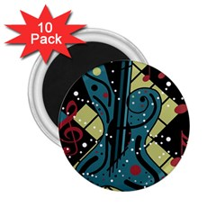 Playful guitar 2.25  Magnets (10 pack)