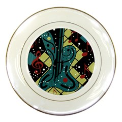 Playful guitar Porcelain Plates