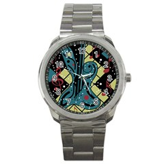 Playful guitar Sport Metal Watch