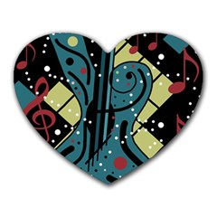 Playful guitar Heart Mousepads
