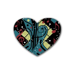Playful guitar Heart Coaster (4 pack)