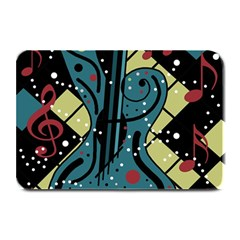 Playful guitar Plate Mats