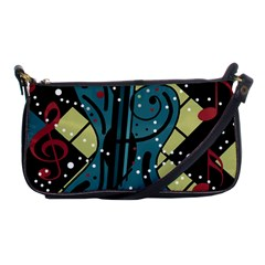 Playful guitar Shoulder Clutch Bags