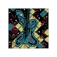 Playful guitar Acrylic Tangram Puzzle (4  x 4 )