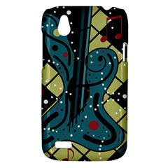 Playful guitar HTC Desire V (T328W) Hardshell Case