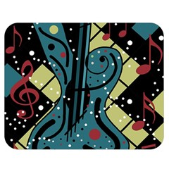 Playful guitar Double Sided Flano Blanket (Medium)