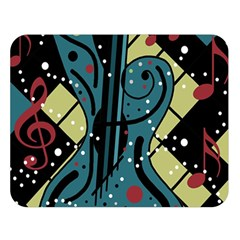 Playful guitar Double Sided Flano Blanket (Large)