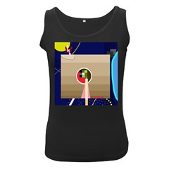 Decorative abstraction Women s Black Tank Top