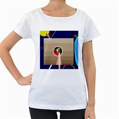 Decorative abstraction Women s Loose-Fit T-Shirt (White)