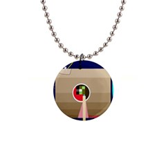 Decorative abstraction Button Necklaces