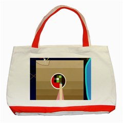 Decorative abstraction Classic Tote Bag (Red)