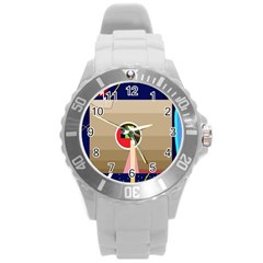 Decorative abstraction Round Plastic Sport Watch (L)
