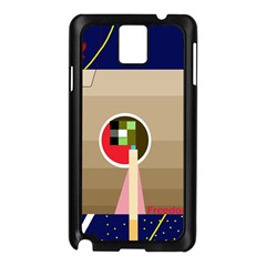 Decorative abstraction Samsung Galaxy Note 3 N9005 Case (Black)
