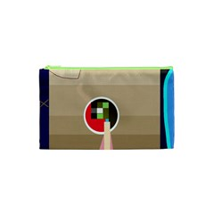 Decorative abstraction Cosmetic Bag (XS)