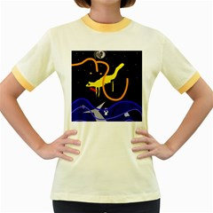 Crazy dream Women s Fitted Ringer T-Shirts