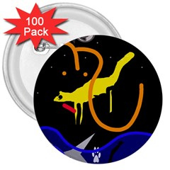 Crazy dream 3  Buttons (100 pack)