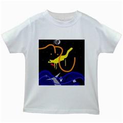 Crazy dream Kids White T-Shirts